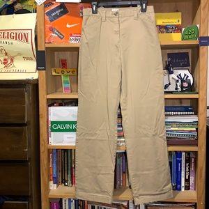 L.L. BEAN-women's beige 'CLASSIC FIT' stretch chino/khaki pants